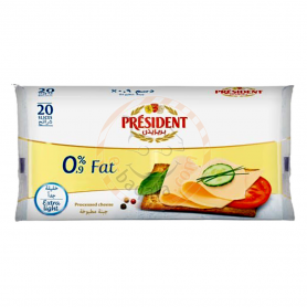 President 0.9%Fat Sliced Cheese 400G